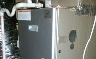 furnace in utility closet