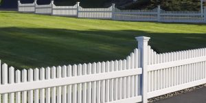 white vinyl pvc fence installed