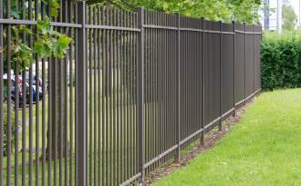 black metal aluminum fence
