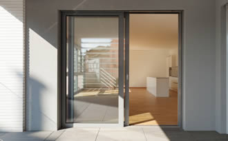 sliding patio doors opened