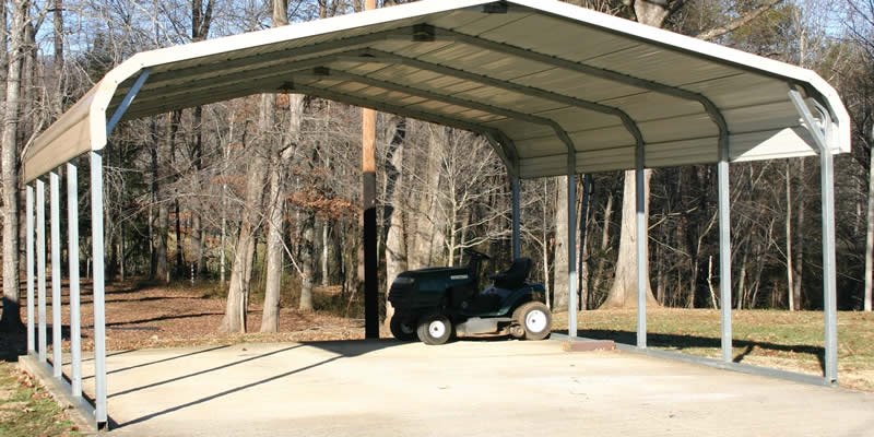 costimate for metal carport storage area