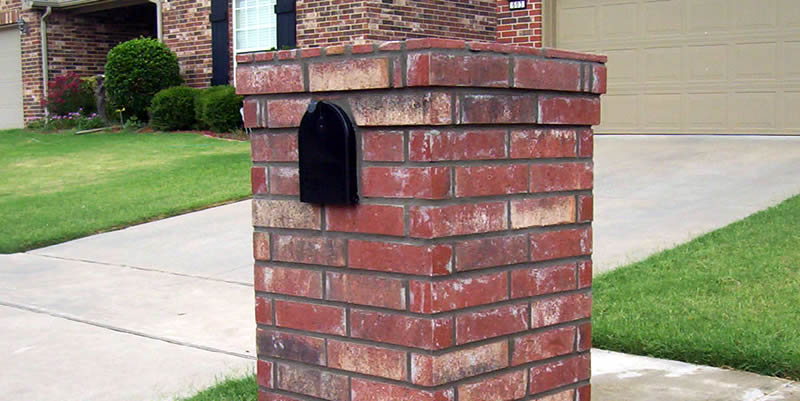brick masonry mailbox