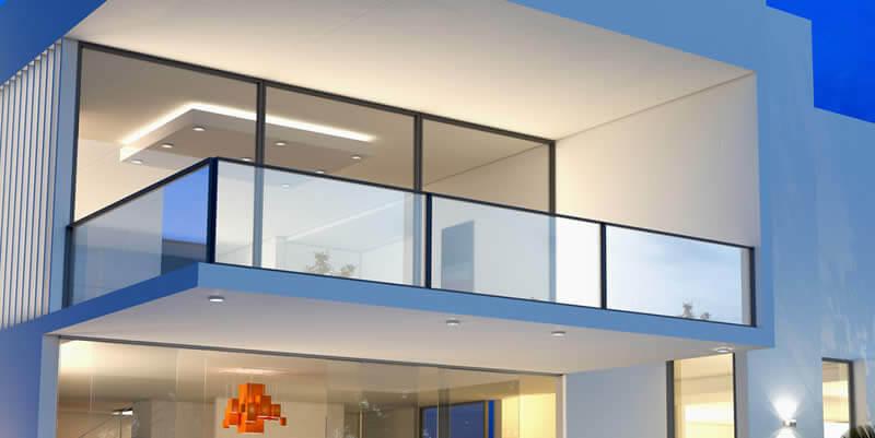 glass deck balcony stairs railings